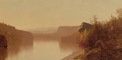 Autumn Lake Scene Poster by Jervis McEntee