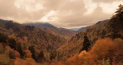 Autumn Landscape In The Smoky Mountains Poster by Dan Sproul