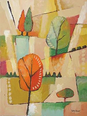 Autumn Landscape Painting Poster