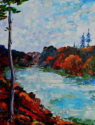Autumn Landscape Poster by Shirley Heyn