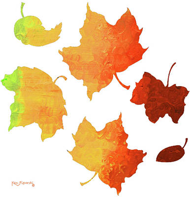 Autumn Leave's Poster by Ken Figurski
