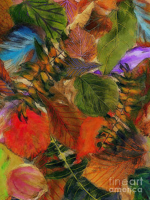 Poster featuring the digital art Autumn Leaves by Klara Acel