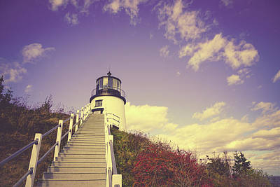 Autumn Lighthouse Poster