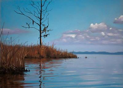Autumn Marsh Reeds Poster by Christopher Reid