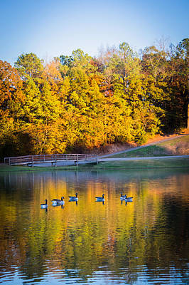 Autumn Memories On The Pond Poster by Parker Cunningham