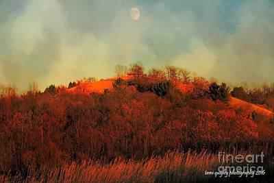 Autumn Moonrise Poster