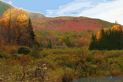 Autumn  Moose Bog Poster