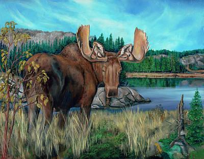 Autumn Moose Poster