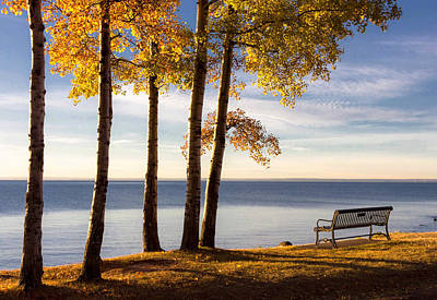 Autumn Morn On The Lake Poster