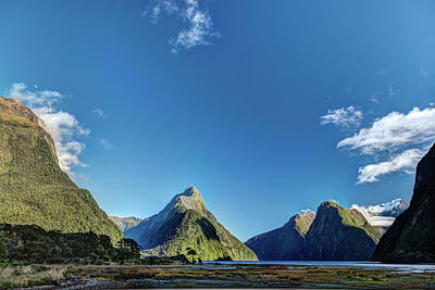 Poster featuring the photograph Autumn Morning Milford Sound by Gary Eason