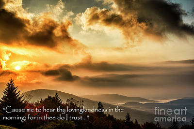 Autumn Morning Scripture Poster