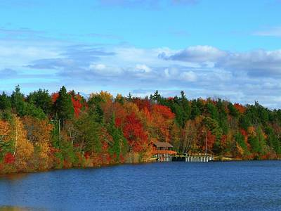 Autumn On Bamber Lake Poster by George Martinez