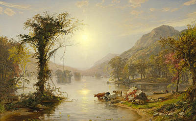 Autumn On Greenwood Lake Poster by Jasper Francis Cropsey