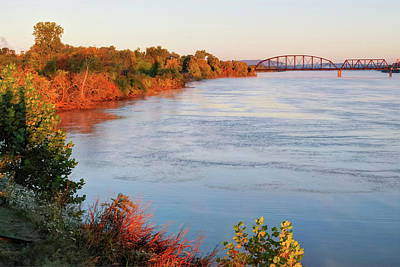 Autumn On The Arkansas River - Fort Smith Poster by Gregory Ballos