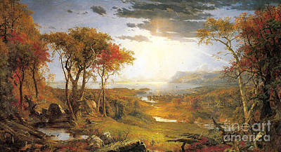 Autumn On The Hudson River  Poster