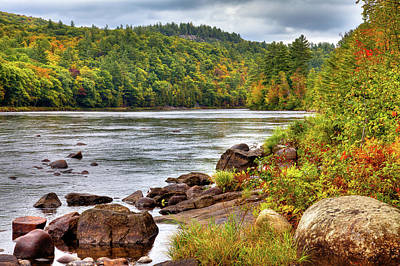 Poster featuring the photograph Autumn On The Hudson River by David Patterson