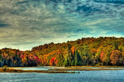 Autumn On The Moose River In Thendara Poster by David Patterson