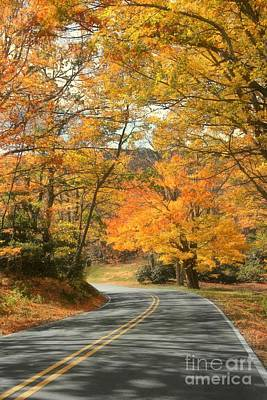 Autumn On The Parkway Poster by Benanne Stiens