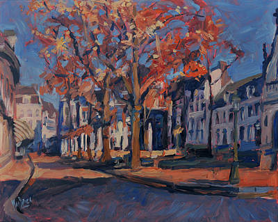 Autumn On The Square Of Our Lady Maastricht Poster