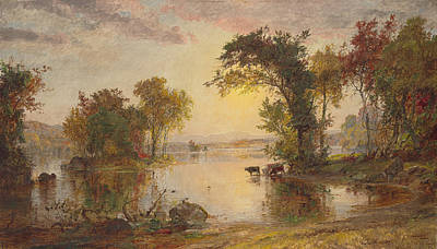 Autumn On The Susquehanna Poster by Jasper Francis