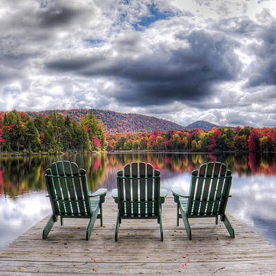 Poster featuring the photograph Autumn On West Lake by David Patterson