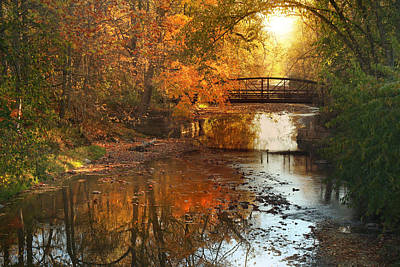 Autumn Over Furnace Run Poster