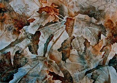 Autumn Patterns Poster by Carolyn Rosenberger