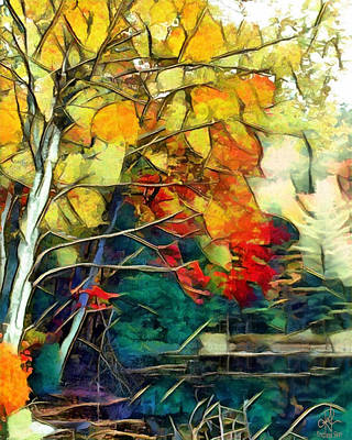 Poster featuring the digital art Autumn by Pennie McCracken