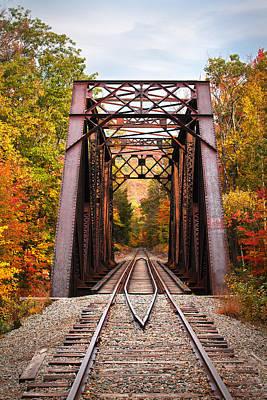 Autumn Railroad Trestle Poster