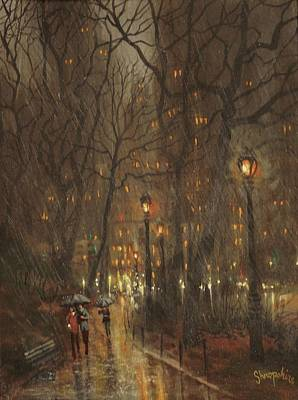 Autumn Rain Poster by Tom Shropshire