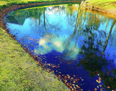 Autumn Reflection Pond Poster