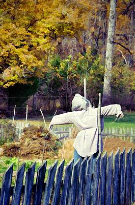 Autumn Scarecrow Poster by Jan Amiss Photography