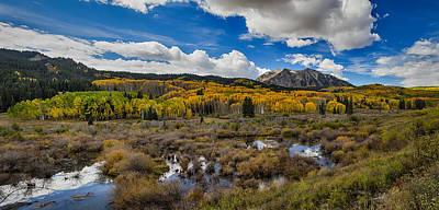 Autumn Season Rocky Mountain Pass Panorama Poster