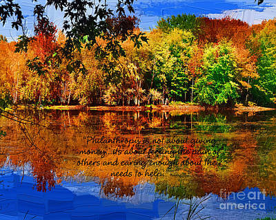 Poster featuring the painting Autumn Serenity Philanthropy Painted by Diane E Berry