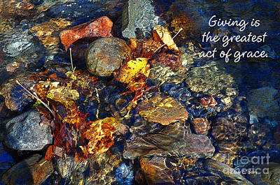 Poster featuring the drawing Autumn Splash Grace by Diane E Berry