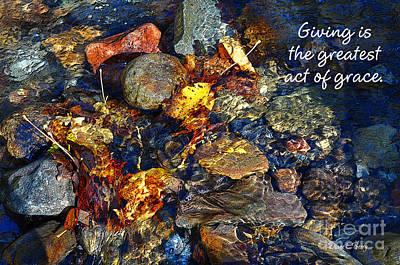 Autumn Splash Grace Poster by Diane E Berry