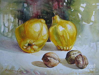 Poster featuring the painting Autumn Still Life 2 by Elena Oleniuc