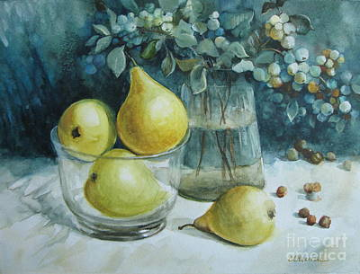 Poster featuring the painting Autumn Still Life 3 by Elena Oleniuc