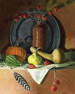 Poster featuring the painting Autumn Still Life by Nancy Griswold