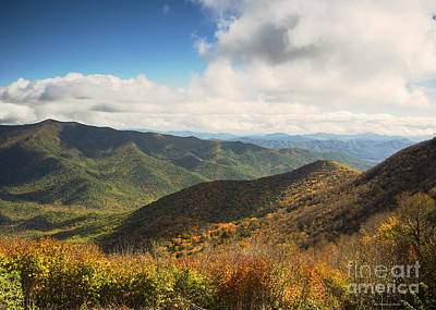 Autumn Storm Clouds Blue Ridge Parkway Poster