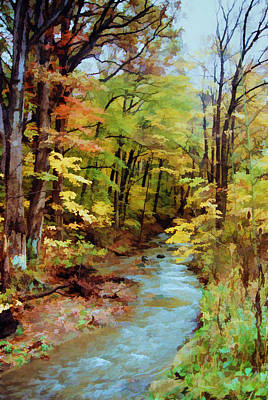 Poster featuring the photograph Autumn Stream by Diane Alexander
