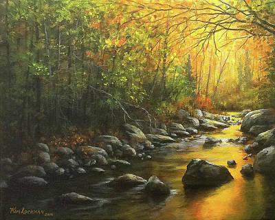 Autumn Stream Poster by Kim Lockman