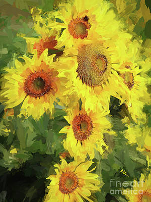 Autumn Sunflowers Poster by Tina LeCour