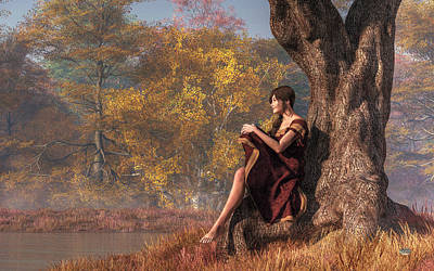 Autumn Thoughts Poster by Daniel Eskridge