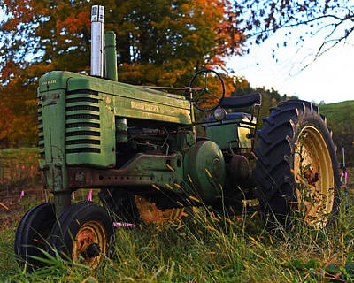 Autumn Tractor Reading Vt Vermont Poster by Toby McGuire