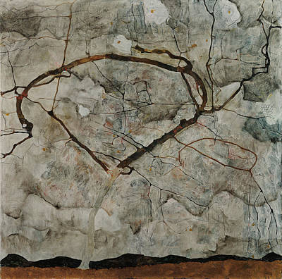 Autumn Tree In Stirred Air Winter Tree 1912 Poster by Egon Schiele
