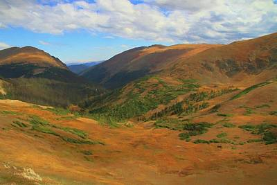 Autumn Valley From The Top Of Trail Ridge Road Poster by Dan Sproul