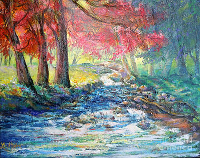 Autumn View Of Bubbling Creek Poster by Lee Nixon