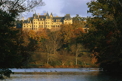 Autumn View Of The Biltmore Poster by Melissa Farlow