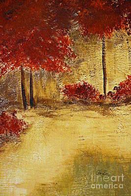 Autumn Walk Poster by Cheryl Rose